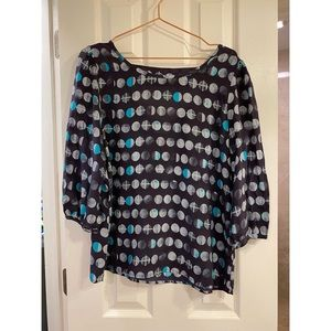 Anthropologie HD in Paris Moon Phase Blouse L